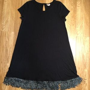 Mossimo Jersey Knit Dress with Sparkle Fringe